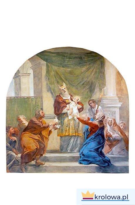 Radość św. Józefa. Ofiarowanie Jezusa w świątyni na fresku Michała Willmanna